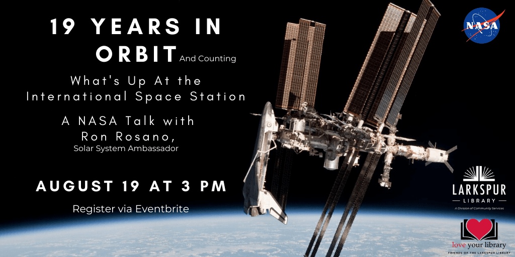 19 Years in Orbit  Wednesday August 19 at 3 PM