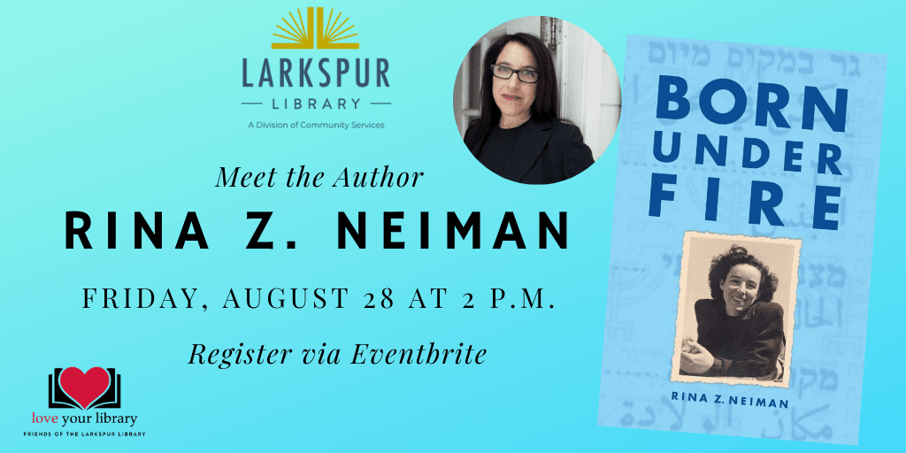 Meet the Author Rina Z Neiman Friday August 28 at 2 PM