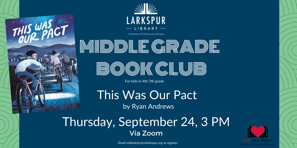 Middle Grade Book Club September 24 at 3 PM